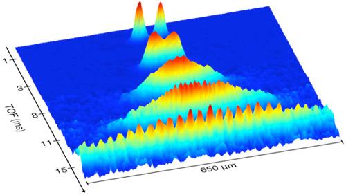 Molecular BEC interference