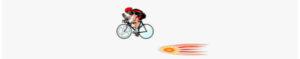 Race Between a Biker and a Light Pulse.