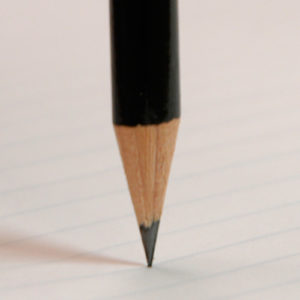 Pencil illustrating stabilty