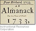 [Picture of cover of 'Poor Richard's Almanack']