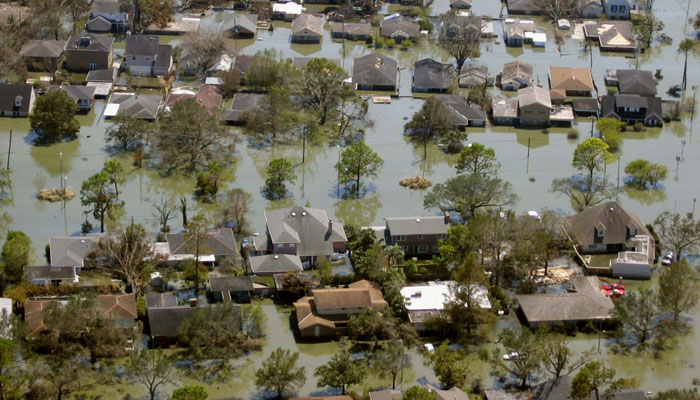 Flooding in New Orleans after Hurricane Katrina, 2005