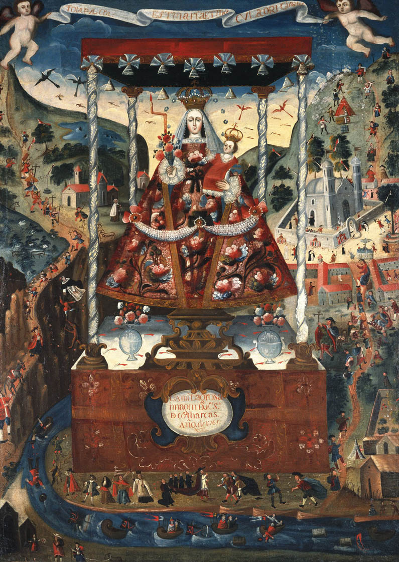 Our Lady of Cocharcas Under the Baldachin