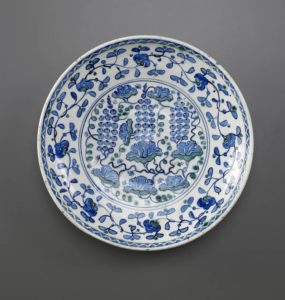 Dish with Grape Design