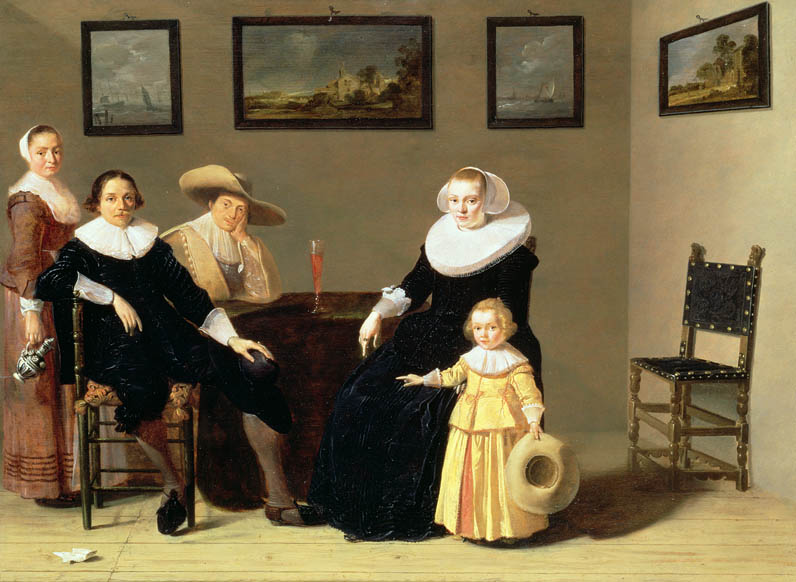 Dutch Family in an Interior