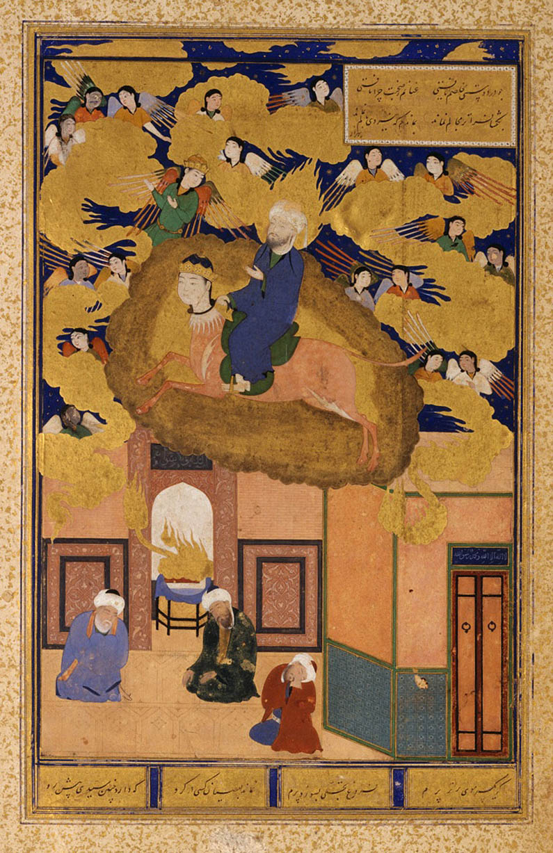 The Night Journey of Muhammad on His Steed, Buraq from the Bustan of Sacdi