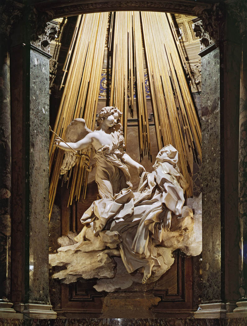 Of bernini's ecstasy of saint theresa it is correct to say that it was