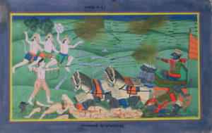 """Battle of Lanka, between Rama and Ravana, King of the Rakshasas"" from the Ramayana"
