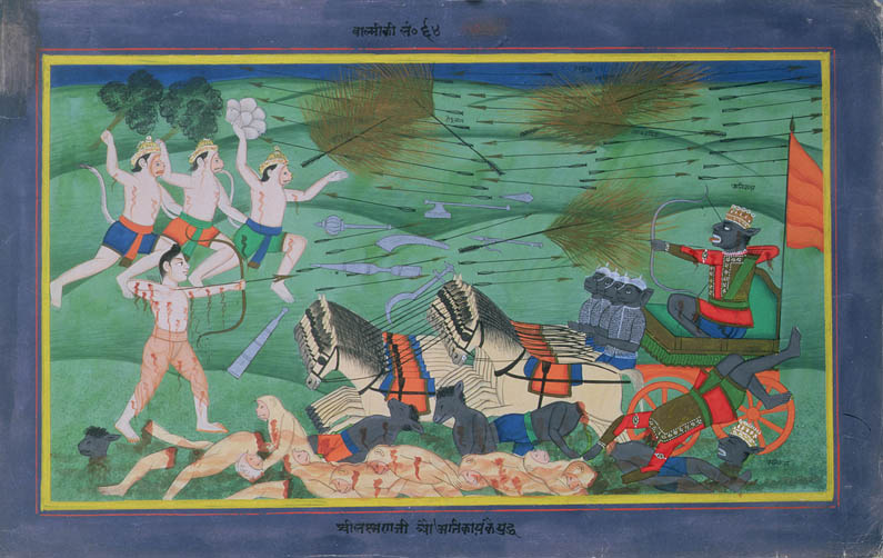 """Battle of Lanka, between Rama and Ravana, King of the Rakshasas"" from the Ramayana"