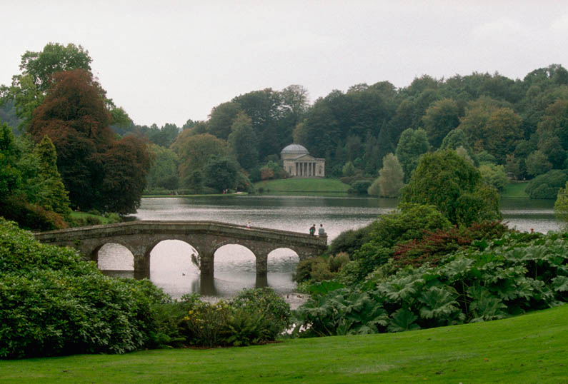 View of the gardens at Stourhead Estate