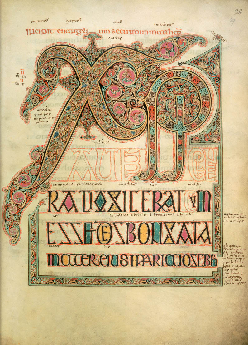 Lindisfarne Gospels, fol. 29 (Cotton MS, Nero D.IV)