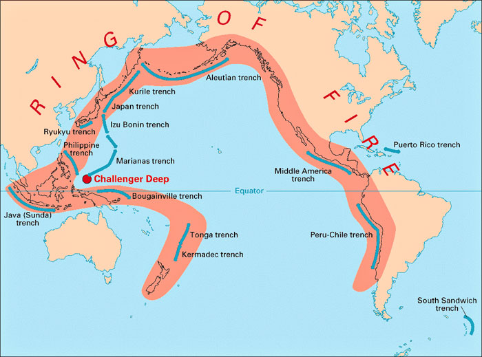 "Ocean trenches and the ""Ring of Fire"""